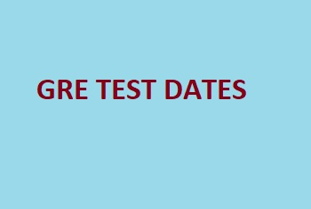 GRE Test Dates 2019